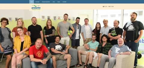 Andante Jugendhilfe Webdesign